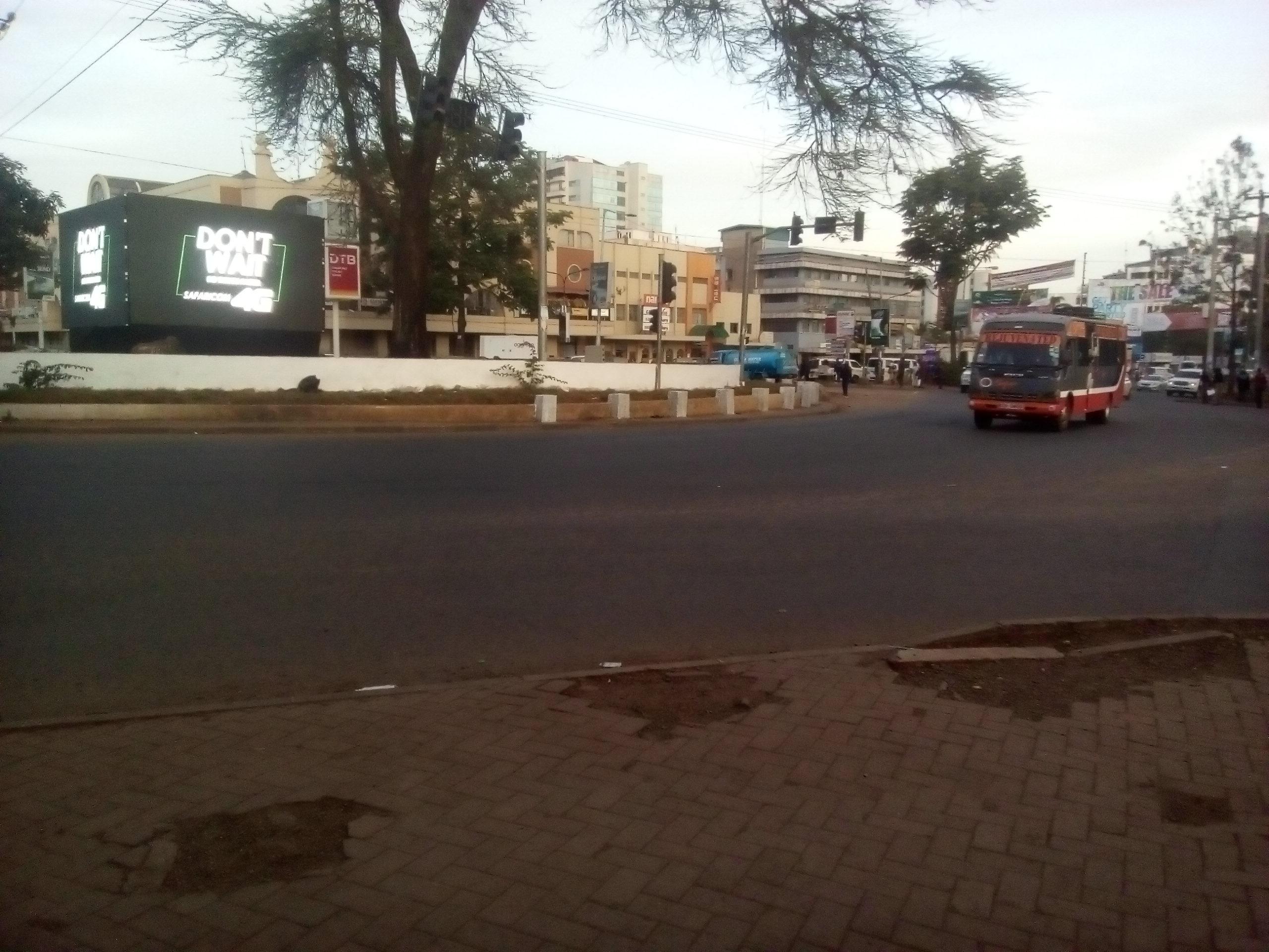 Sprint Kenya roundabout branding